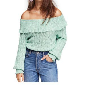 Free People Crazy in Love Off-the-Shoulder Sweater